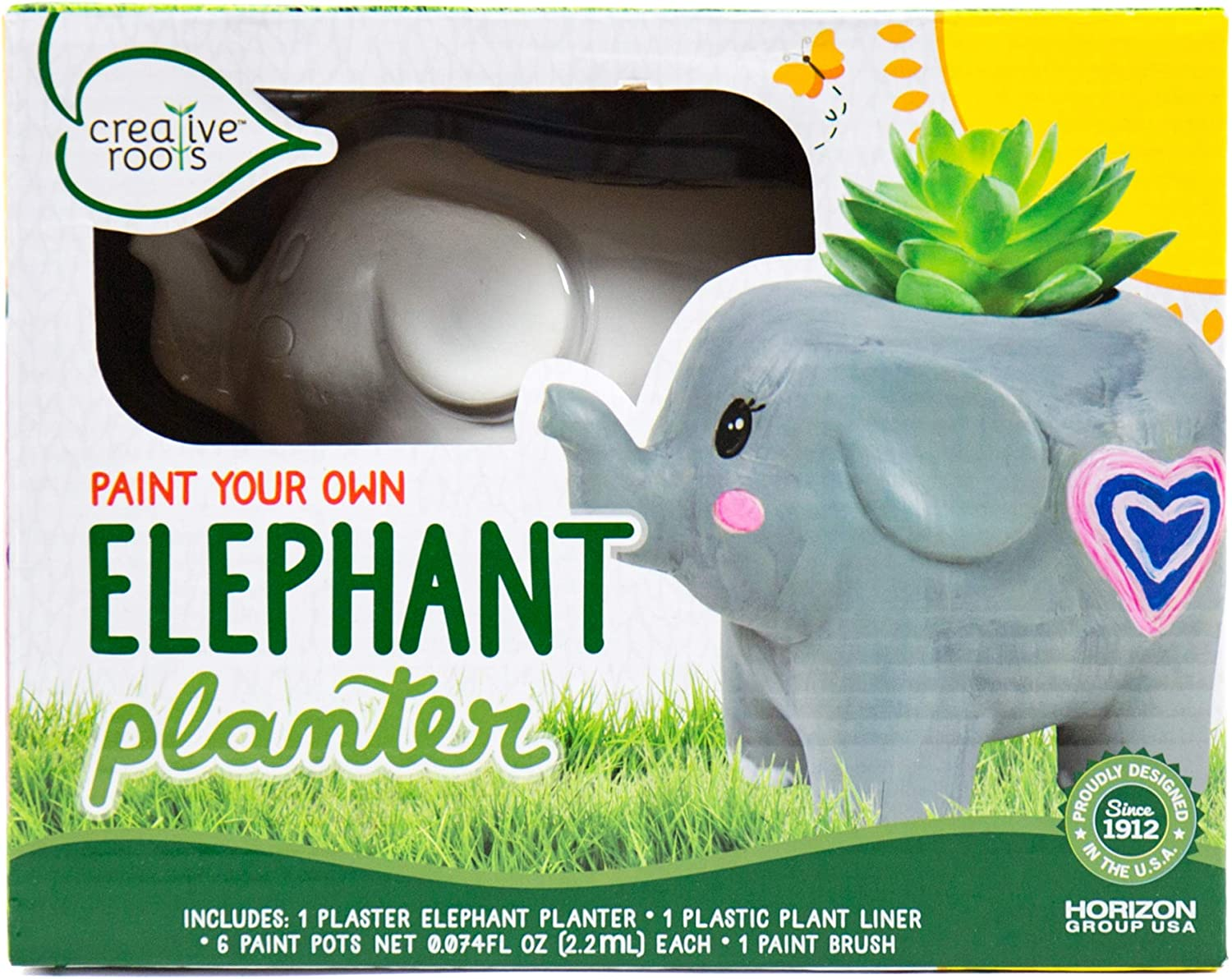 Creative Roots Paint Your Own Elephant Planter by Horizon Group USA Toy