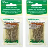 Clover Quilting Pins, Fine (2 Pack)