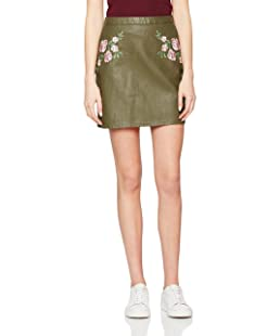 New Look Women's 5154119 Skirt, Green (Dark Khaki), 8