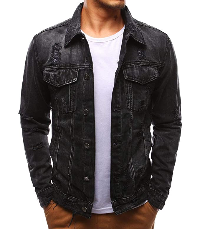 Mens Denim Jacket Bomber Jacket Men Cowboy Mens Jean Jacket ...