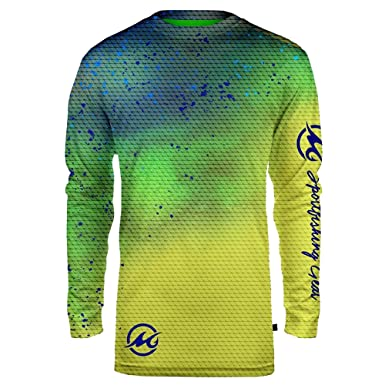 bbb8f4831 Image Unavailable. Image not available for. Color: Mojo Sportwear Men's  Finny Sublimated UPF Fishing Shirt ...