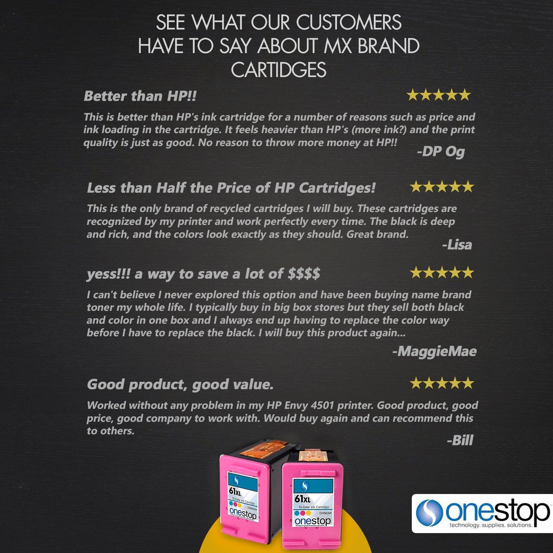 Amazon MX Brand For HP 61XL Color Inkjet Premium High Yield Ink Cartridge 61