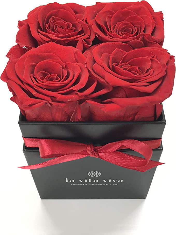 echte Rose rot 3 Jahre haltbar Rosenbox als Geschenk mit Geschenkbox zum Jahrestag f/ür unvergessliche Momente LA VITA VIVA Infinity Rosen Box