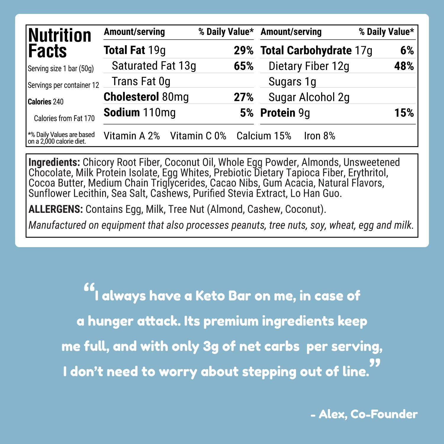 Kiss My Keto Snacks Keto Bars - Keto Chocolate Cookie Dough, Nutritional Keto Food Bars, Paleo, Low Carb/Glycemic Keto Friendly Foods, All Natural On-The-Go Snacks, Quality Fat Bars, 3g Net Carbs by Kiss My Keto (Image #5)