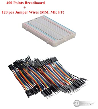10cm Dupont Jumper cable Arduino 400 Tie Points Solderless PCB Mini Breadboard