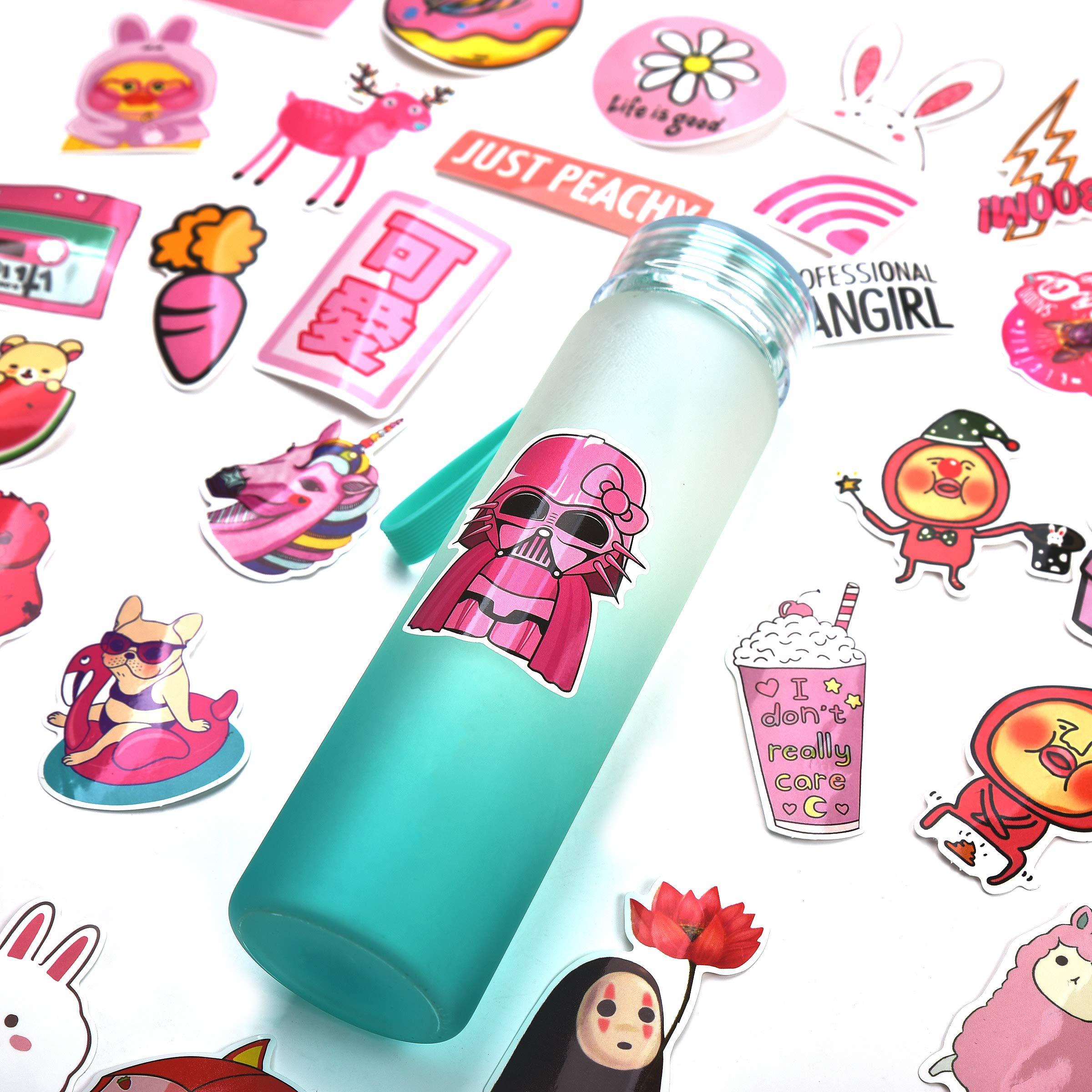 Mizzuco Vinyl Stickers Waterproof Cute Stickers 50 Pieces for Laptop Bumper Helmet Ipad Car Luggage Water Bottle (FS126)
