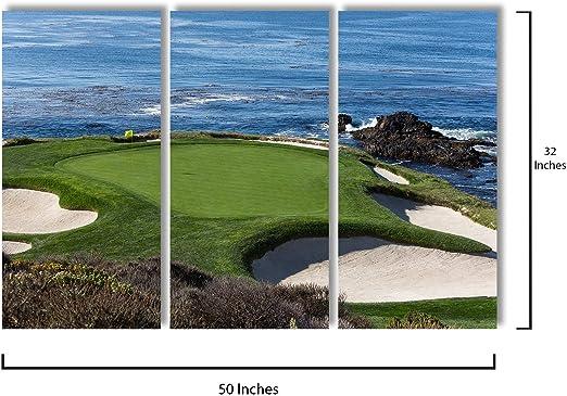 Pebble Beach Monterey Surf California United States Travel Advertisement Poster