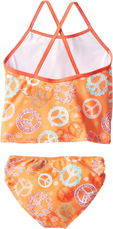 Kanu Surf Little Girls Peace and Love Tankini Swimsuit