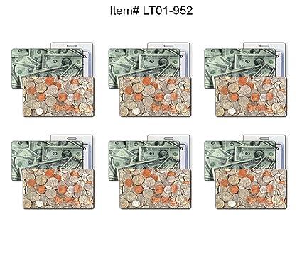 f22ed3b4cb4d Amazon.com | SET OF 6 Lenticular Luggage Tag Plastic Loop, Flips ...