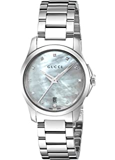 Gucci G-Timeless Quartz Stainless Steel Silver-Toned Womens Watch(Model
