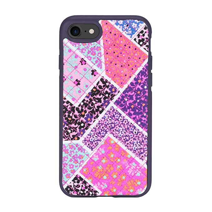 wholesale dealer 05bd9 0d174 Vera Bradley Quilted Inlay Case for iPhone 8, iPhone 7 -Multi/Elderberry  Microfiber Diamond Quilt