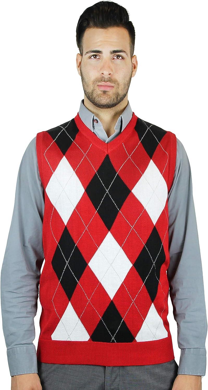 Blue Ocean Kids Argyle Sweater Vest-16//Large Brown