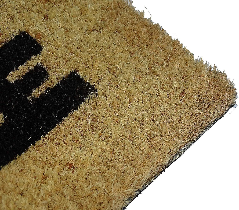 paillasson Exterieur 100/% Fibre de Coco avec Base Anti d/érapant en PVC Koko Doormats Tapis Entree Exterieur et Interieur Bienvenus au C/ôt/é Obscur 40x60x1.5 cm.