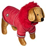 Doggy Things Dandy Parka, M, Red
