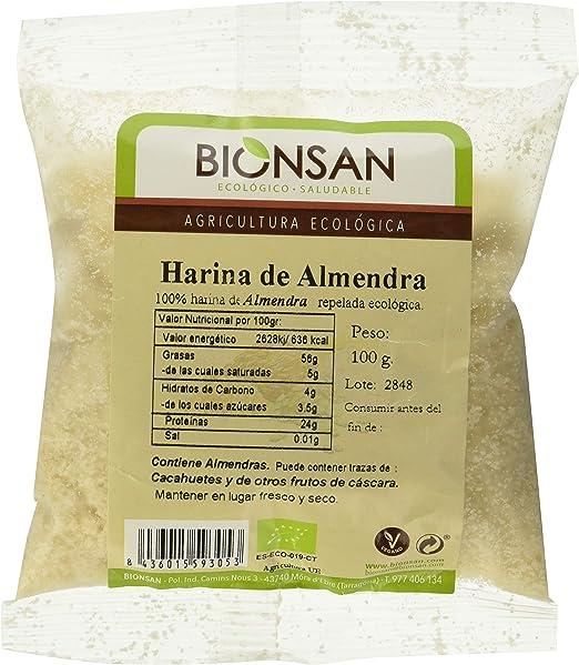 Bionsan Harina de Almendra Ecológica - 3 bolsas de 100 gr ...