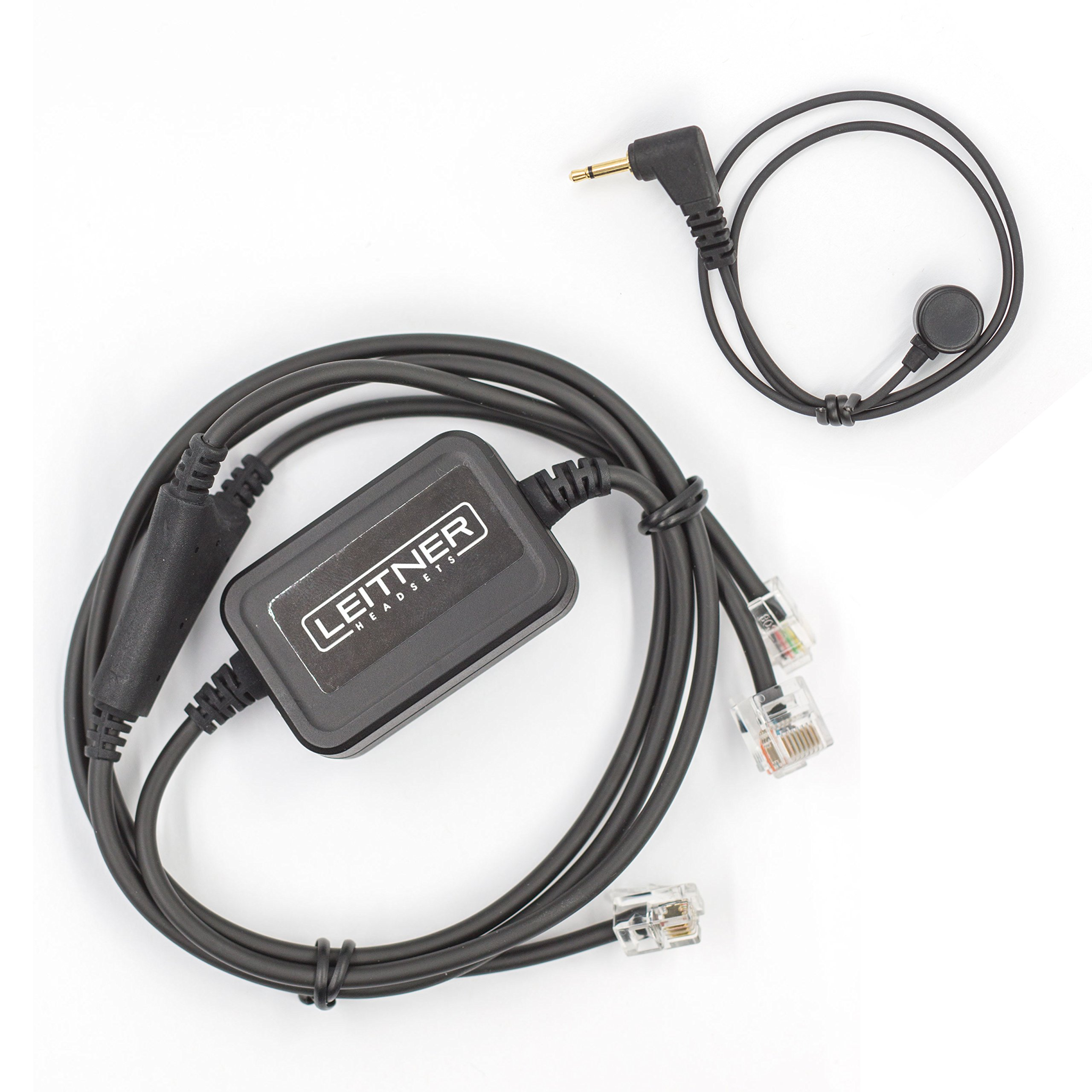 Leitner Electronic Hookswitch for Avaya and ShoreTel Phones. Compatible with LH280, LH170, LH270, LH275 Leitner Wireless Office Headsets