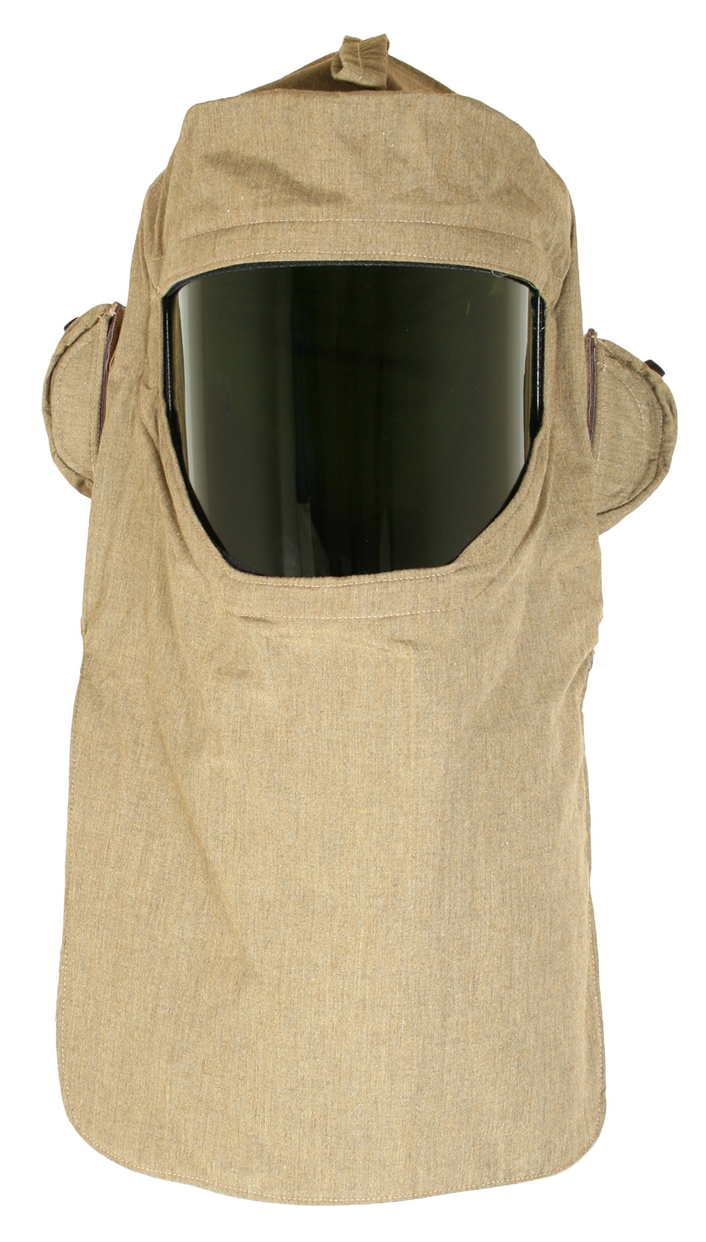 National Safety Apparel H65NPQHFANLT ArcGuard RevoLite Arc Flash Hood with Hard Hat and Internal Fans, 40 Calorie, One Size, Olive Green