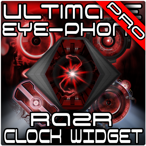 Ultimate RAZR Clock Widget + Wallpaper Pack ()