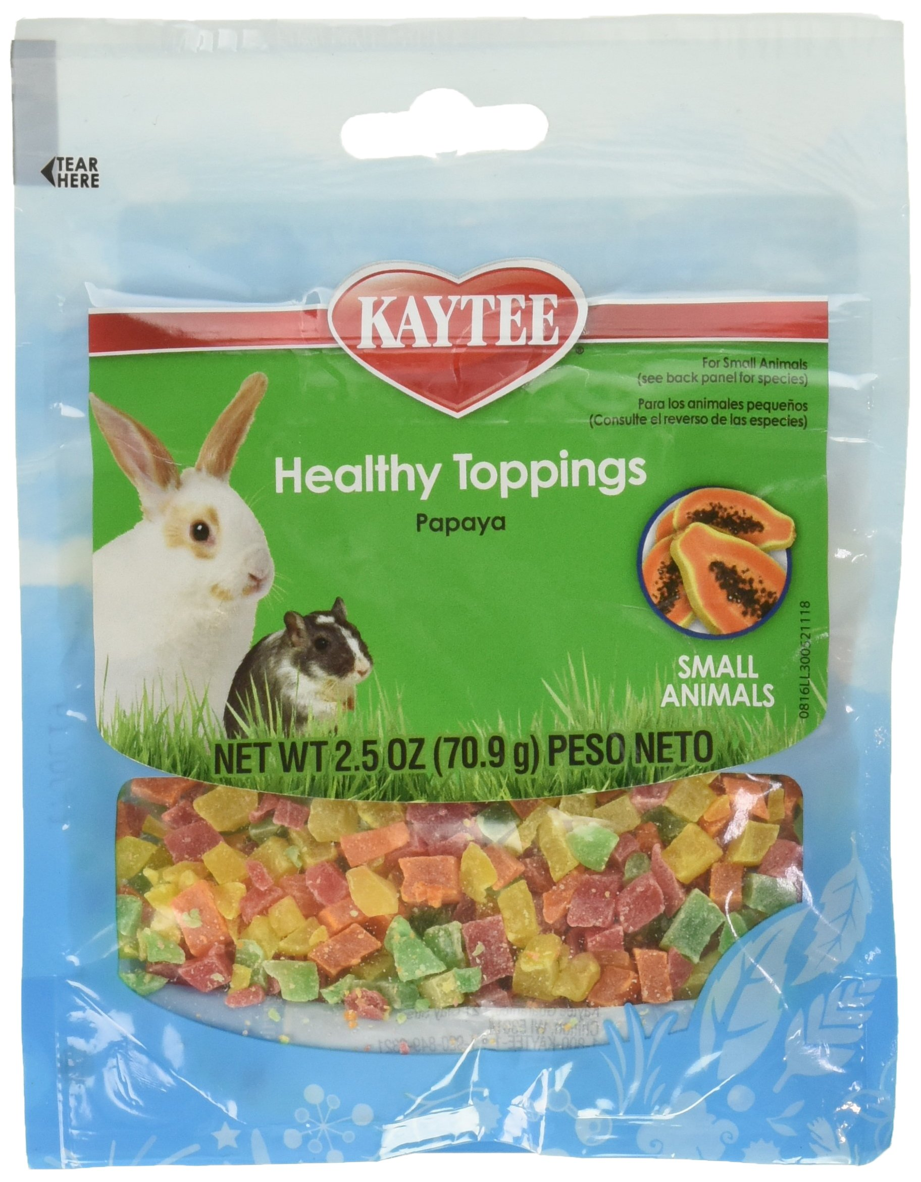 Kaytee healthy toppings papaya,2.5 oz (6 pack)