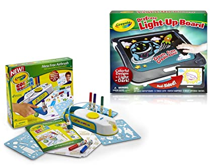 amazon com bundle pack 2in1 crayola dry erase light up board with