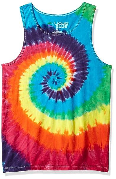 07792b5e362 Liquid Blue Rainbow Spiral Tie Dye Tank Top