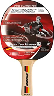 Donic-Schildkröt Team Germany 600 Raquette de Tennis de Table Mixte Enfant, Noir/Rouge/Brun, m BXQJH|#Donic Schildkröt 733065