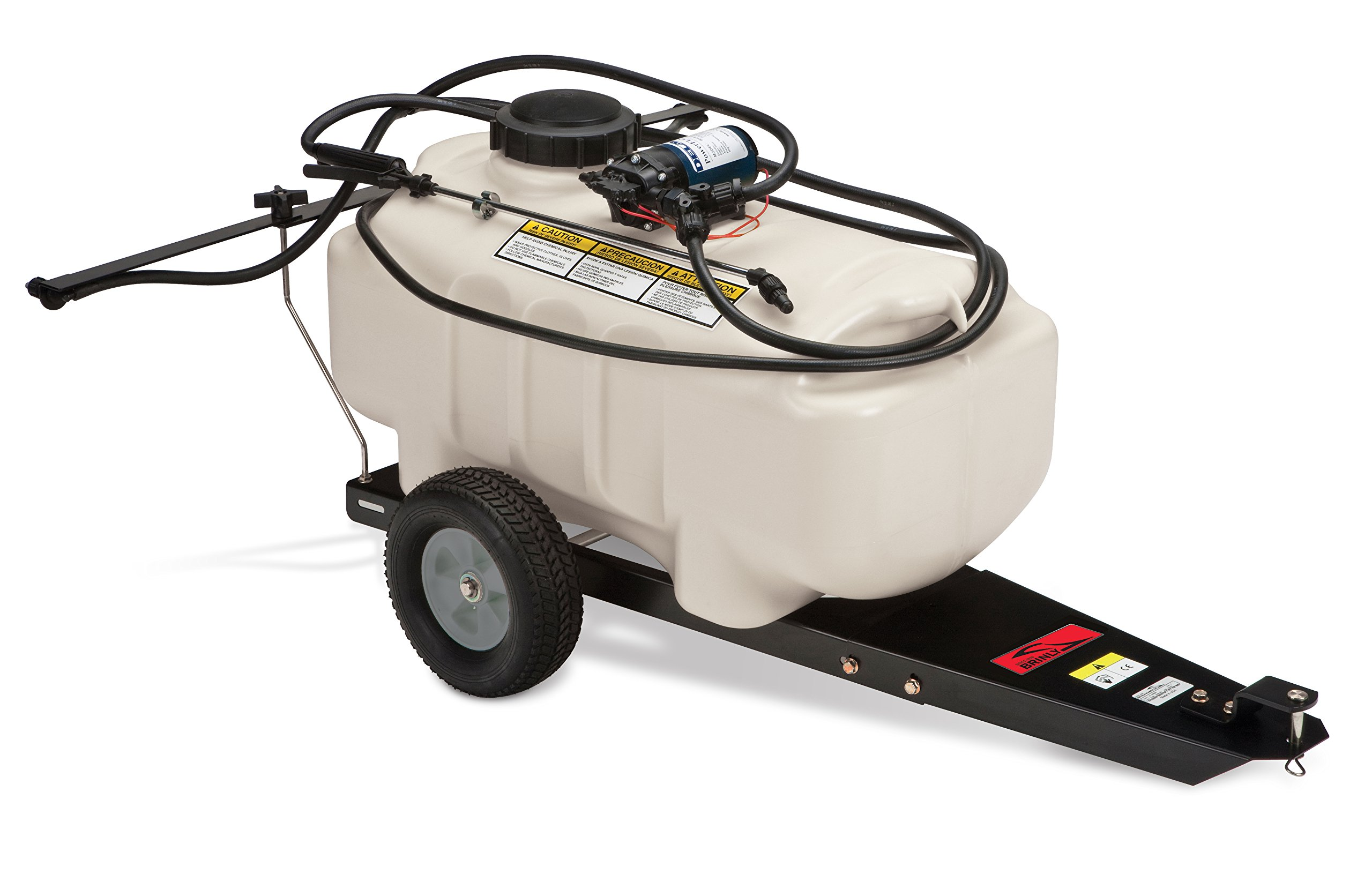 Brinly ST-25BH Tow Behind Lawn and Garden Sprayer, 25-Gallon