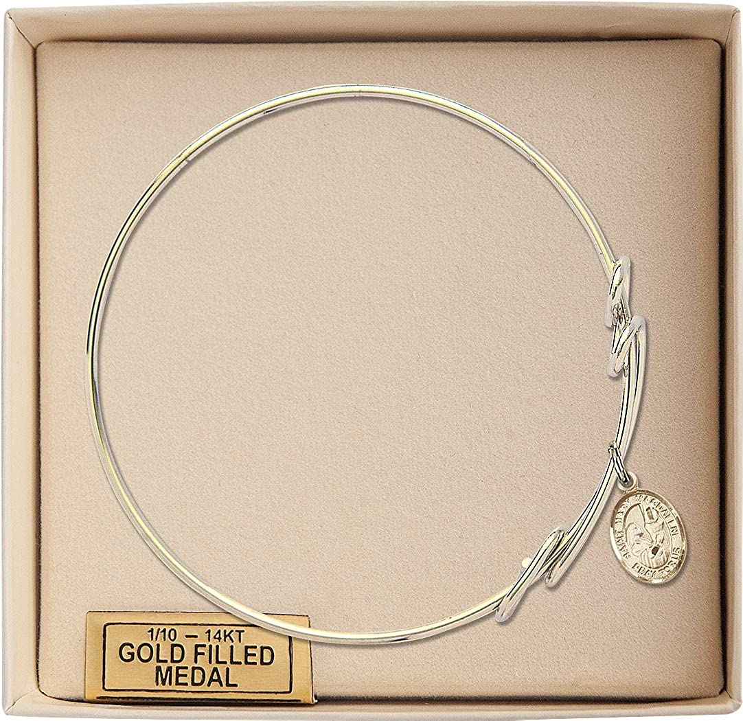 Mary Magdalene in Gold-Filled Bonyak Jewelry Round Double Loop Bangle Bracelet w//St
