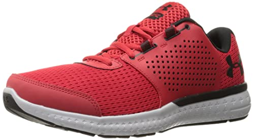 Under Armour Men's Micro G Fuel RN Running Shoe, Red/Glacier Gray, 7.5