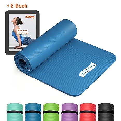 Joyletics® Fitnessmatte »150« + e-Book und Traggegurt | extra dick und weich | 183 x 61 x 1,5cm | Rutschfest, strapazierfähig