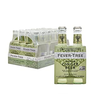 Fever-Tree Premium Ginger Beer, No Artificial Sweeteners, Flavourings or Preservatives, 6.8 Fl Oz (Pack of 24)