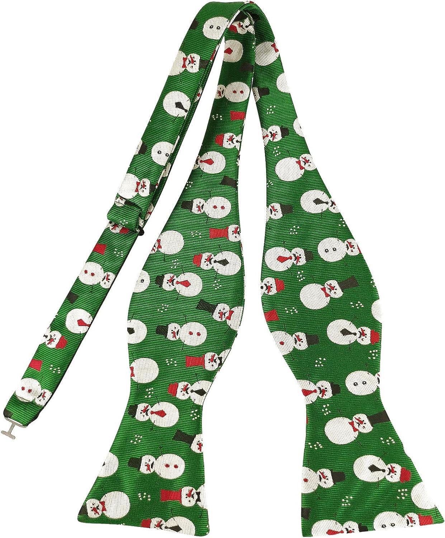 f/ür Weihnachten Kooelle Herren-Fliege zum Selbstbinden gewebt