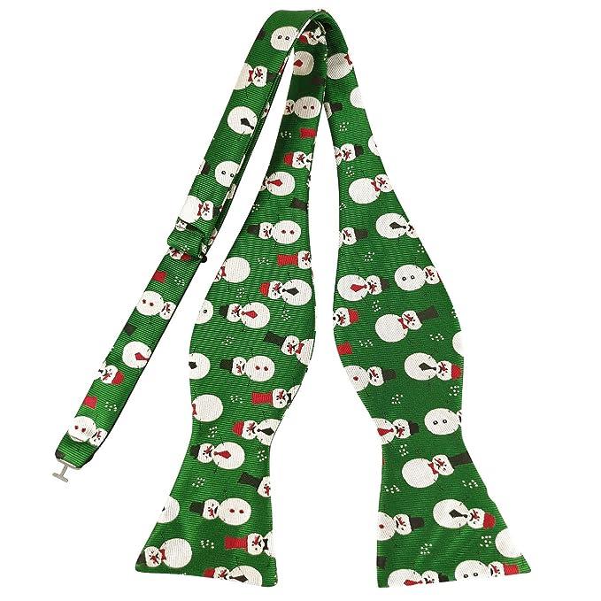 KOOELLE - Pajarita para hombre, diseño navideño Verde verde 85 ...