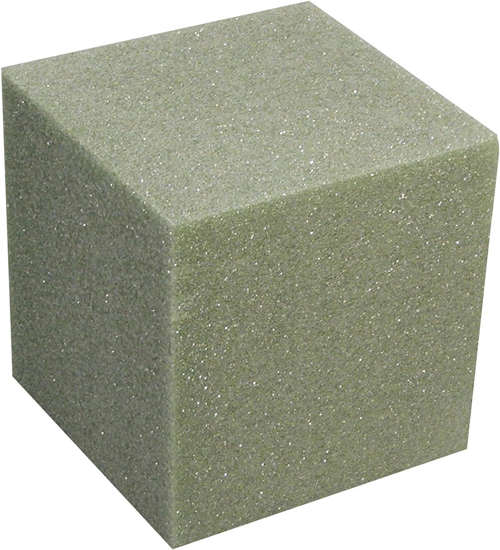 FloraCraft Styrofoam B333GS/6 Shrink Wrapped Cube, 3 by 3 by 3-Inch, Green