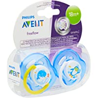Chupeta Freeflow Decorada 18 Meses ou Mais Dupla, Philips Avent, Azul