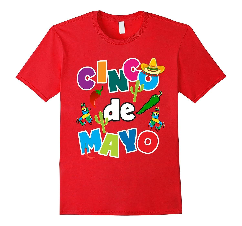 Cinco De Mayo Shirt For Kids Men Women Pinata Sombrero Fun-CD