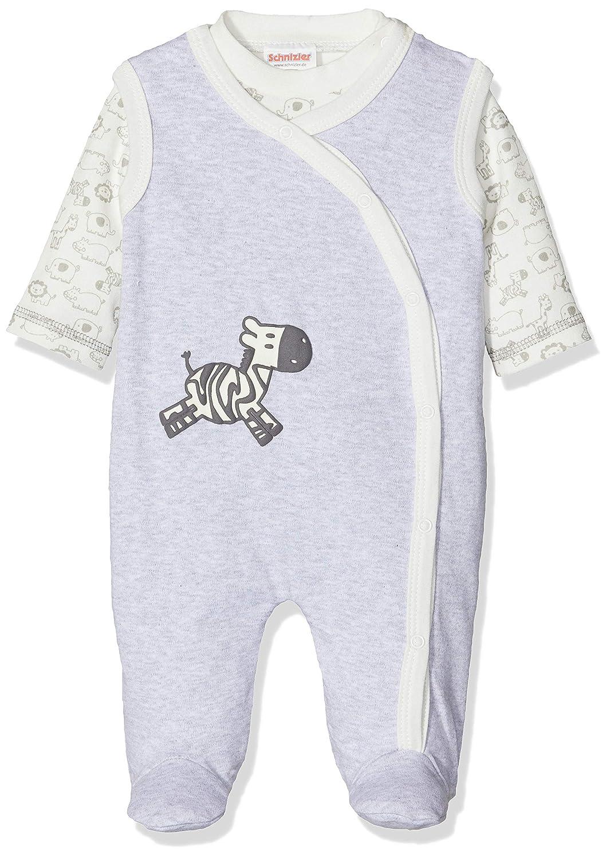 Unisex beb/é Pack de 2 Schnizler Set Zebra Mit Langarmshirt Pelele