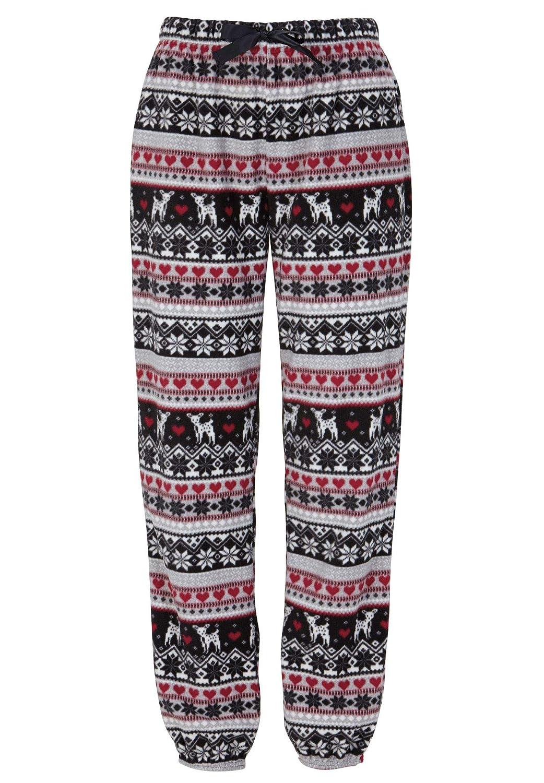 6bd6a2926f9 Ellos Women s Plus Size Fair Isle Fleece Pajama Pants at Amazon Women s  Clothing store