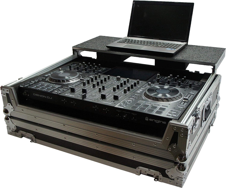 Harmony HCMINILT Flight Glide Laptop Stand DJ Custom Case fits Denon DN-MC4000