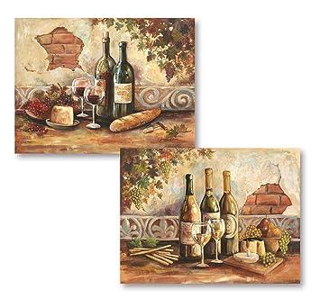 Amazoncom Gango Home Decor Bountiful Wine Rustic Italian Wine