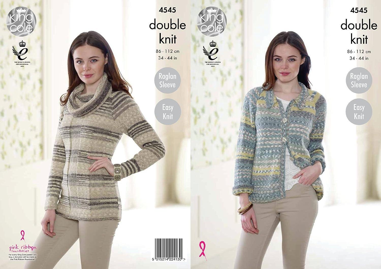 King Cole Womens Double Knitting Pattern Easy Knit Raglan Sleeve ...
