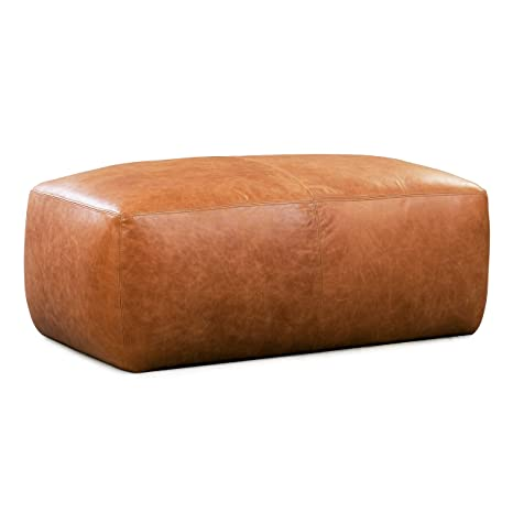 Fabulous Amazon Com Poly And Bark Denver Modern Leather Ottoman Pouf Squirreltailoven Fun Painted Chair Ideas Images Squirreltailovenorg