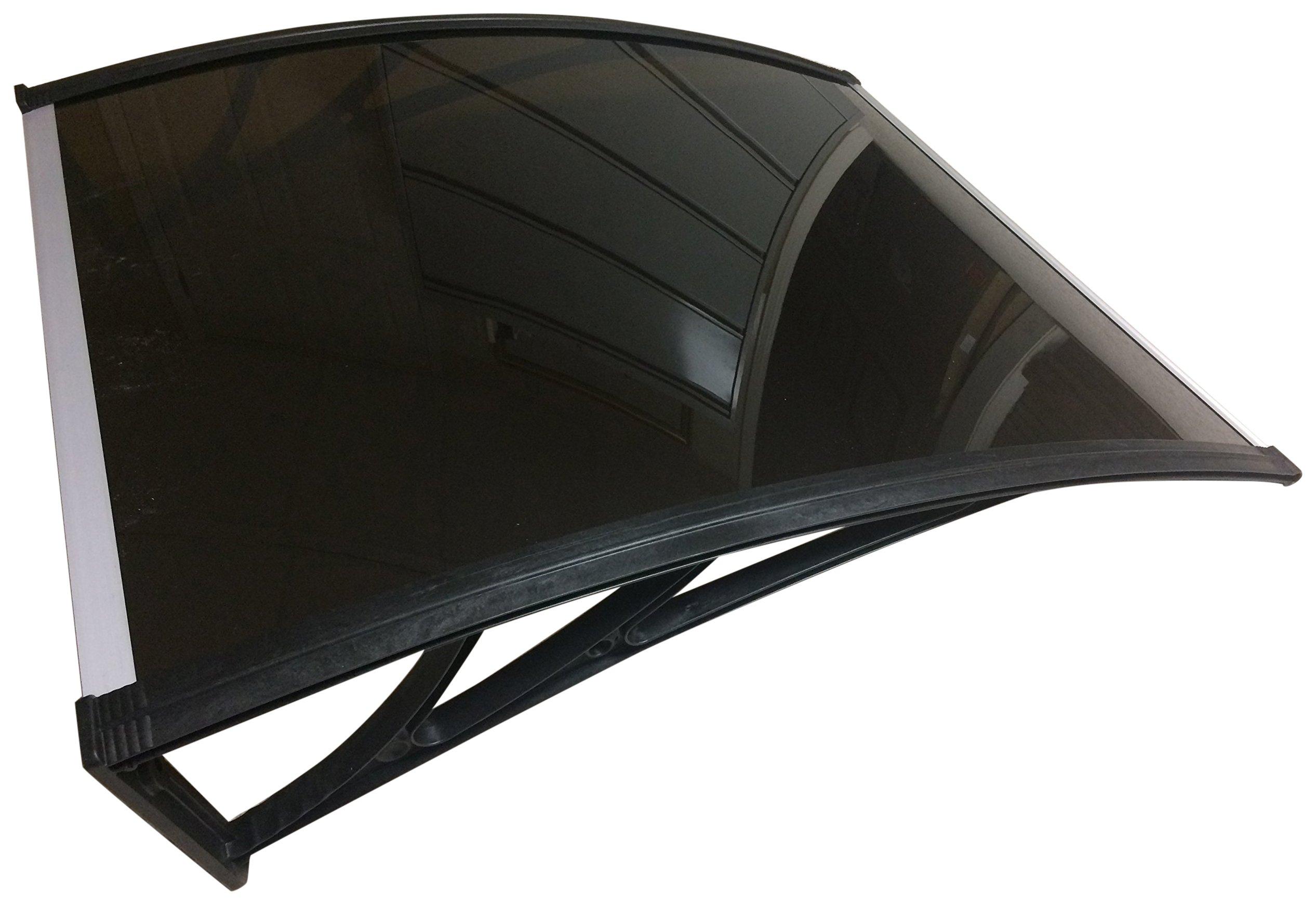 Denmir Door-Window Awnings Solid Panel, 9ft x 4ft Brown