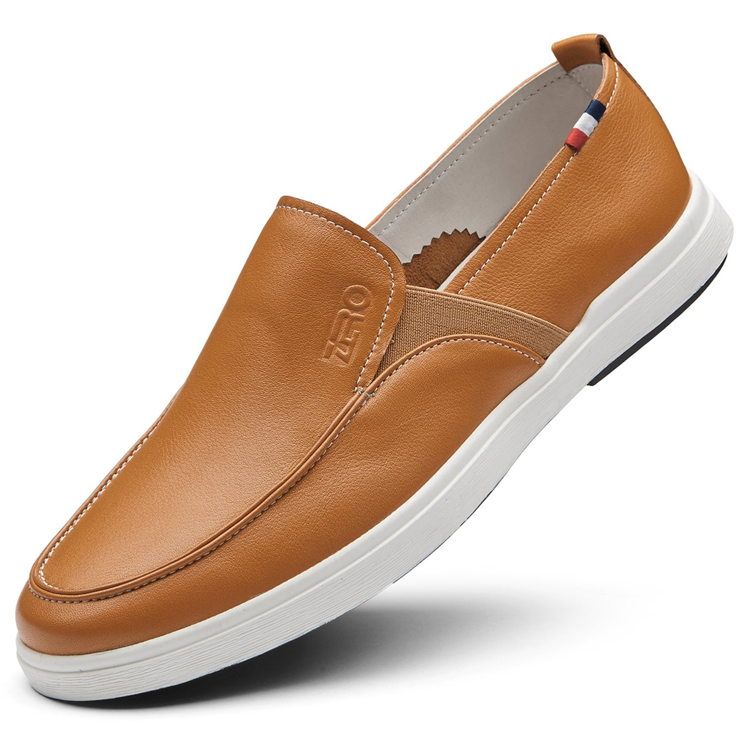 ZRO Men's Popular Casual Loafer Branded Shoes Fashion slip on Brown US 10