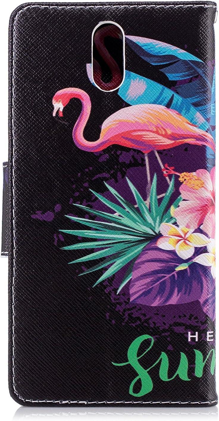 Nokia 3.1 Case Lomogo Leather Wallet Case with Kickstand Card Holder Shockproof Flip Case Cover for Nokia3.1 LOBFE13128#8