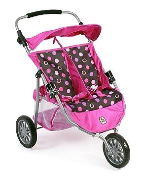 Amazon.es: Bayer Chic 2000 697 48 - DE Gemelos Jogger, Zwilling Carro para muñecas de hasta 50 cm, Pinky Balls: Juguetes y juegos