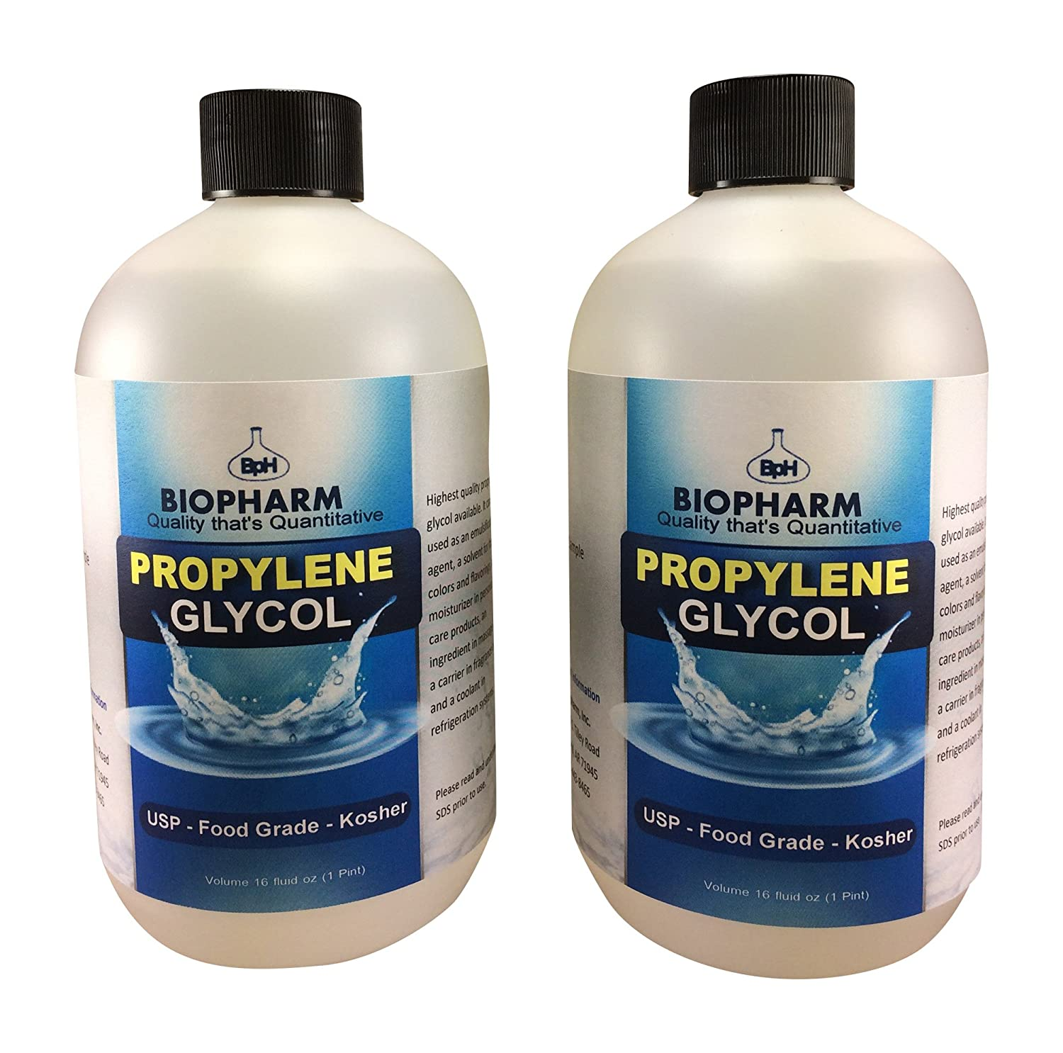 Propylene Glycol USP, Kosher, Food Grade 2-Pack 500 mL Each