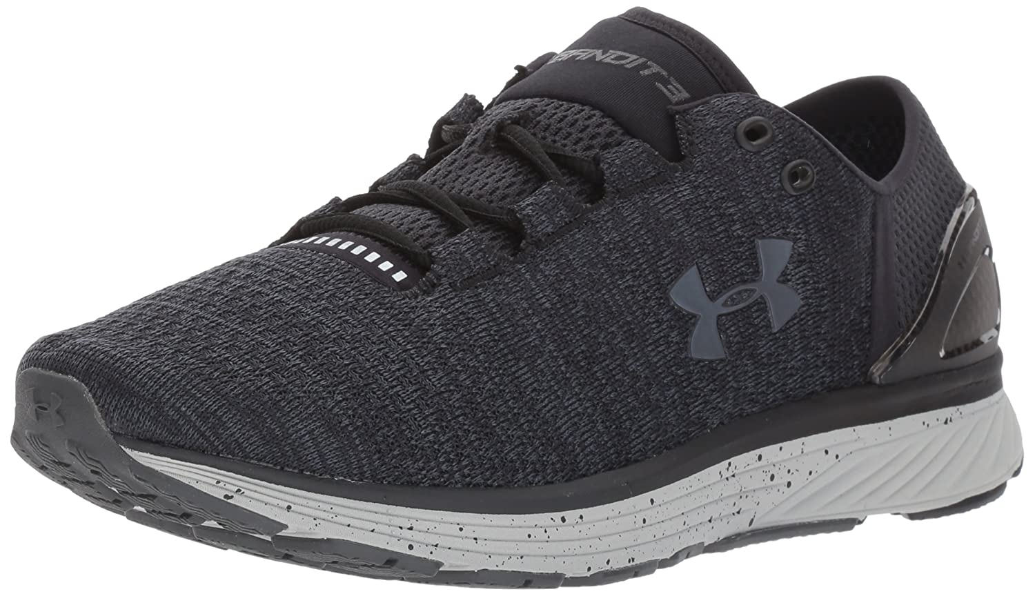 low priced 27813 84bae Amazon.com   Under Armour Women s Charged Bandit 3 D Running Shoe Black  (001) Glacier Gray 5   Road Running
