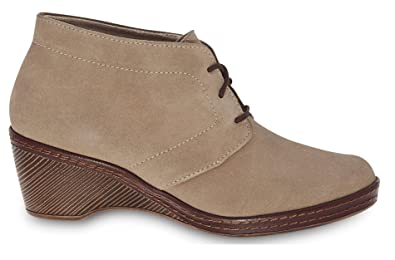 Dr. Scholl's Original Collection Women's Shoes Comfort Memory Foam Genuine Suede Leather Mocha Ankle Boot