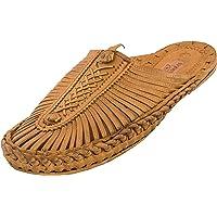 RAMRAJ Leather Kolhapuri Chappal for Mens/Kolhapuri Sandals for Mens/Kolhapuri Footwear